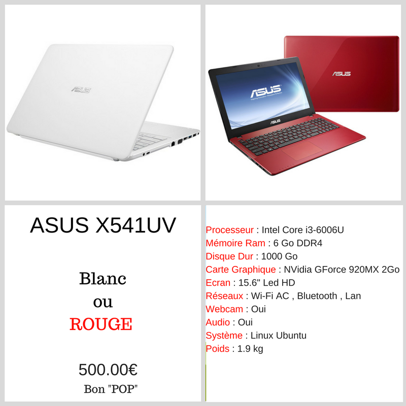 Pop2 - ASUS 541 - RDP Informatique