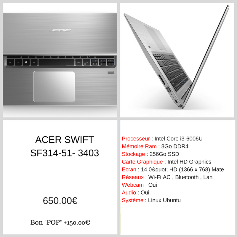 POP ACER Swift - RDP Informatique